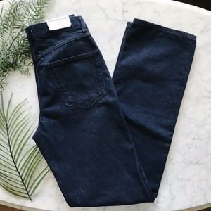 New Zara The Heritage Straight HIgh Rise Jeans 4